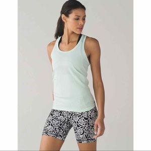 Lululemon Speed Track Shorts Posey Black White